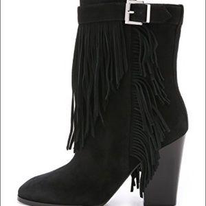 SIGERSON MORRISON Black Fringe Malli Boots sz 10
